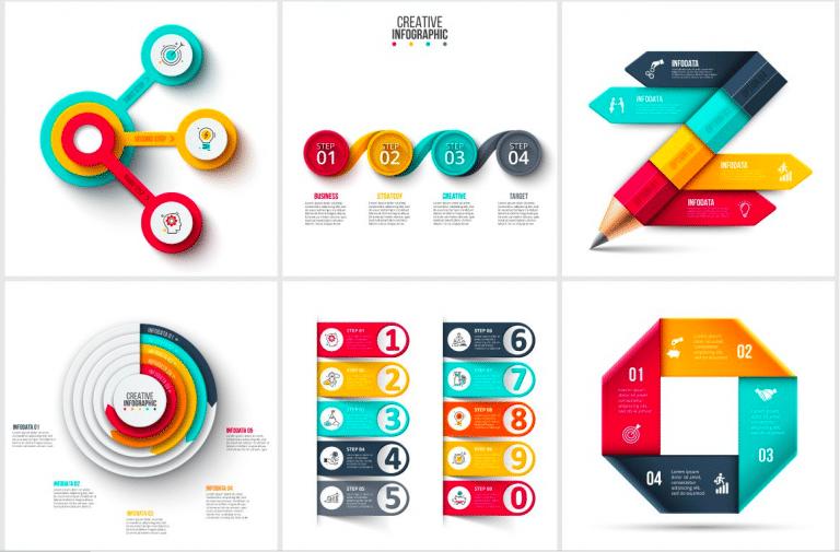 Set de templates para infografías