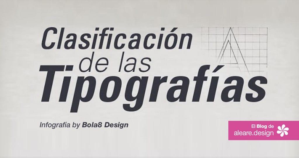 infografía clasificación de las Tipografías --- El blog de aleare.design