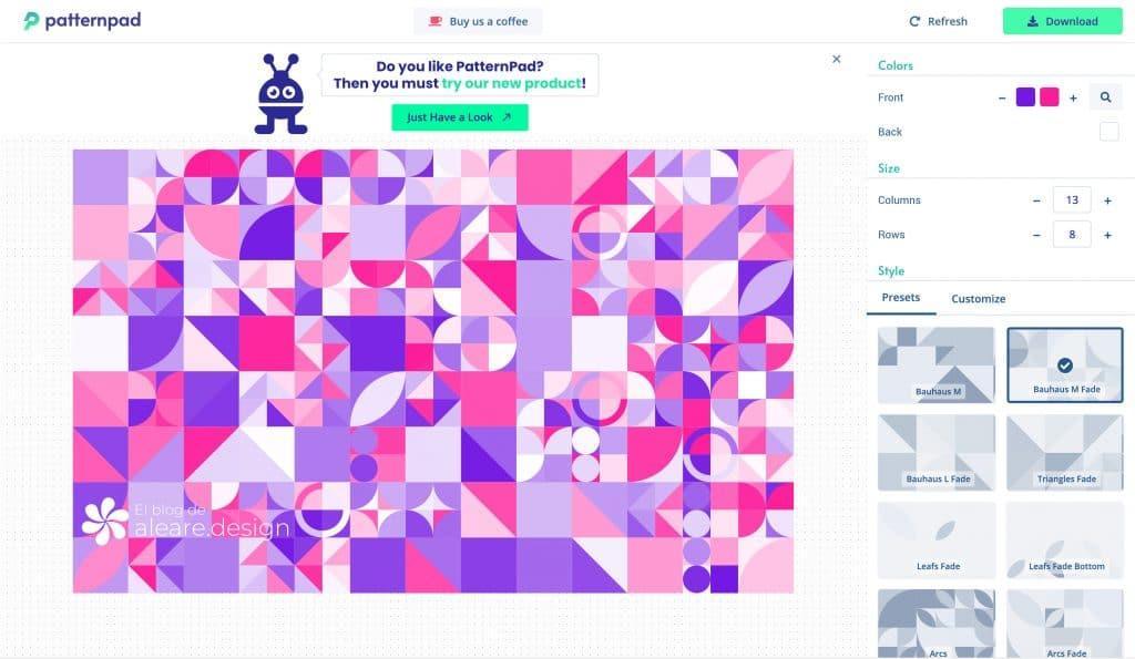 Pattern Pad testing -- El blog de aleare.design