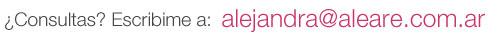 ¿Consultas? Escribime a alejandra@aleare.com.ar